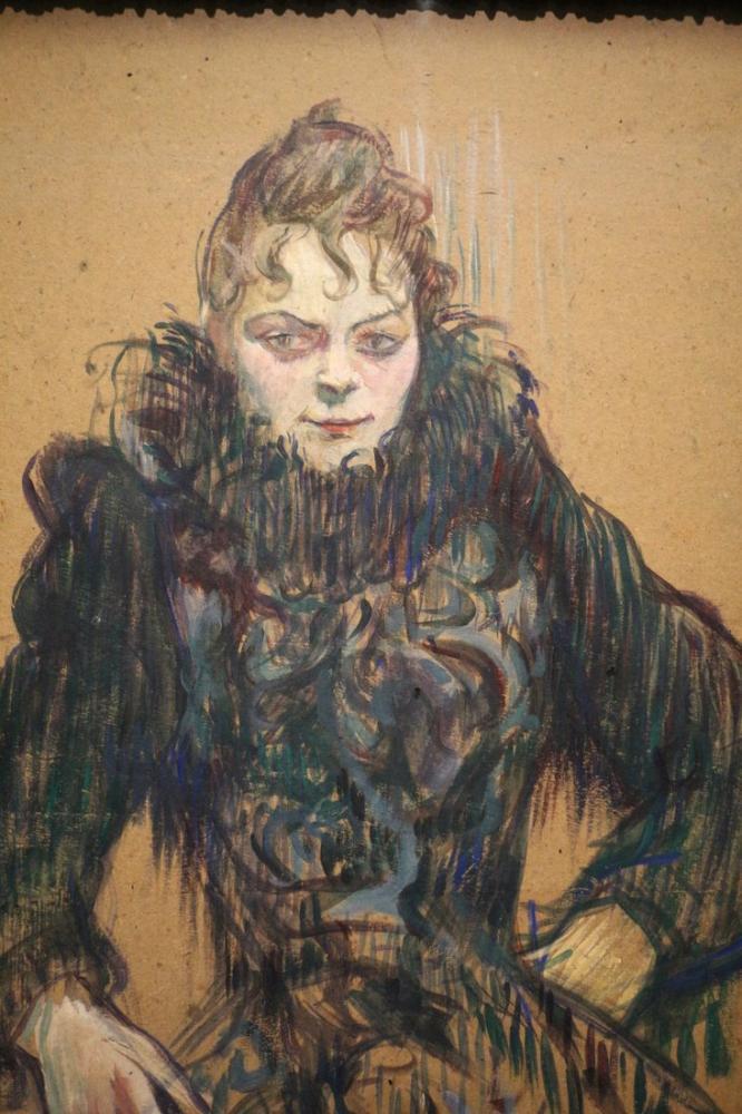 Henri De Toulouse Lautrec Donna Col Boa Nero, Canvas, Henri de Toulouse-Lautrec, kanvas tablo, canvas print sales