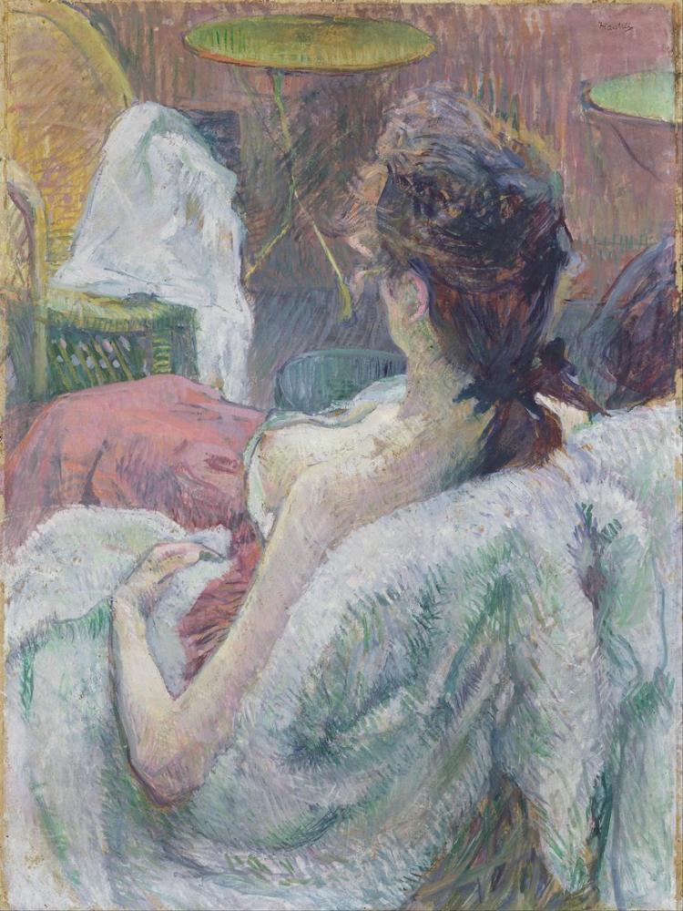 Henri De Toulouse Lautrec Fransız Modeli Dinleniyor, Kanvas Tablo, Henri de Toulouse-Lautrec, kanvas tablo, canvas print sales