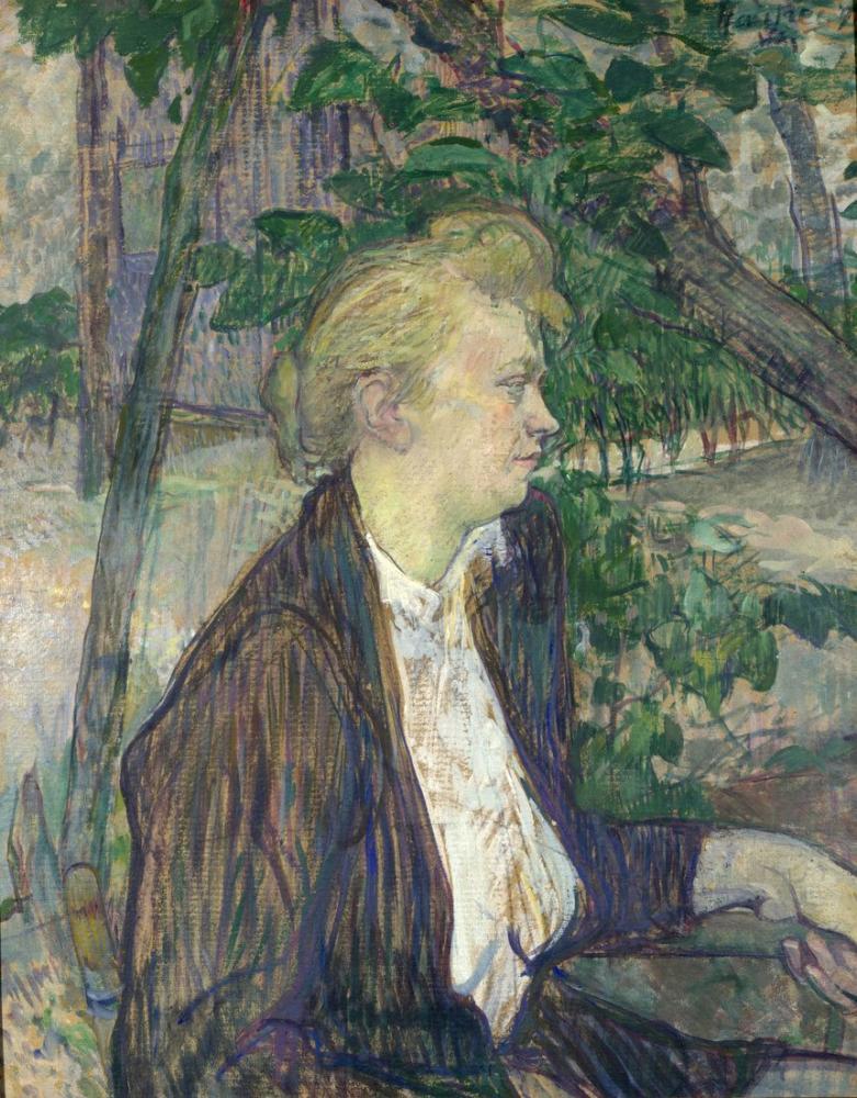 Henri De Toulouse Lautrec Bir Bahçede Oturan Kadın, Kanvas Tablo, Henri de Toulouse-Lautrec, kanvas tablo, canvas print sales