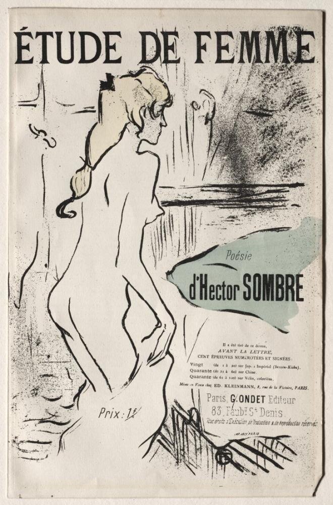 Henri De Toulouse Lautrec Etude De Femme, Figure, Henri de Toulouse-Lautrec, kanvas tablo, canvas print sales