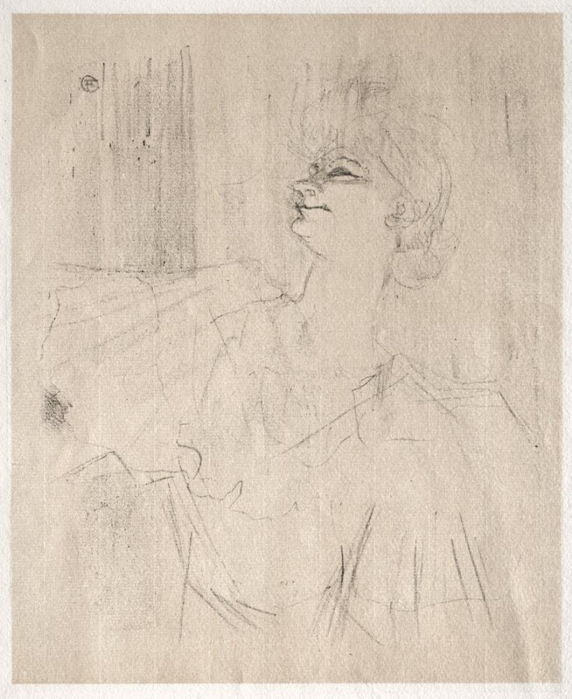 Henri De Toulouse Lautrec Yvette Guilbert A Menilmontant De Bruant, Figure, Henri de Toulouse-Lautrec, kanvas tablo, canvas print sales