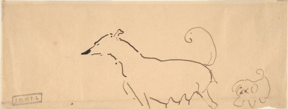 Henri De Toulouse Lautrec Two Dogs, Figure, Henri de Toulouse-Lautrec, kanvas tablo, canvas print sales