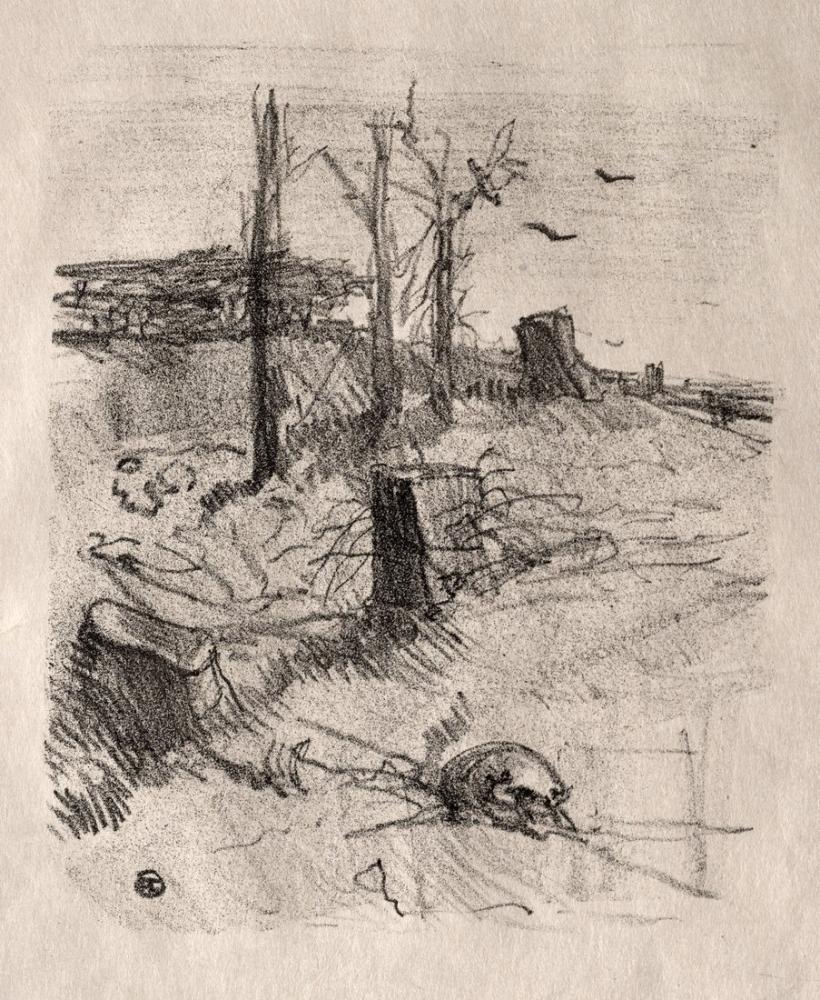 Henri De Toulouse Lautrec Bir Mezarlık Galiçya, Kanvas Tablo, Henri de Toulouse-Lautrec, kanvas tablo, canvas print sales
