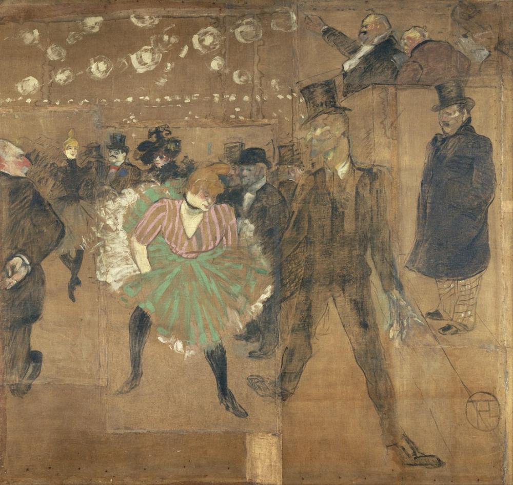Henri De Toulouse Lautrec Goulue Evi İçin Paneller Paris Taht Fuarı, Kanvas Tablo, Henri de Toulouse-Lautrec, kanvas tablo, canvas print sales