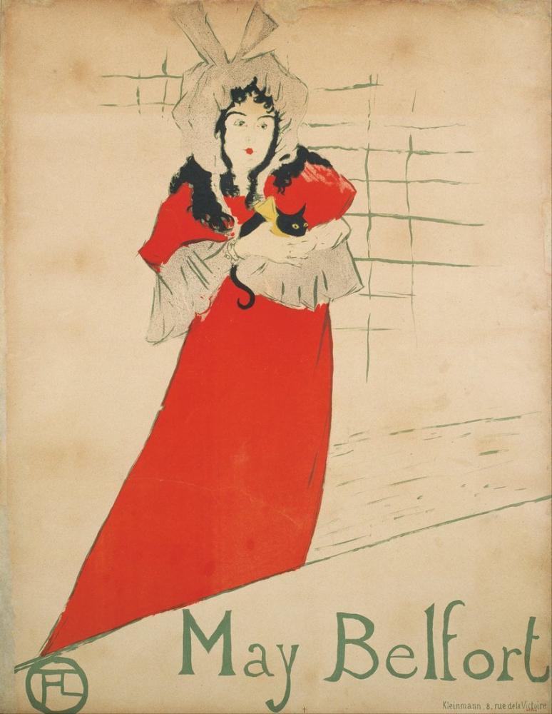 Henri De Toulouse Lautrec May Belfort, Figür, Henri de Toulouse-Lautrec, kanvas tablo, canvas print sales