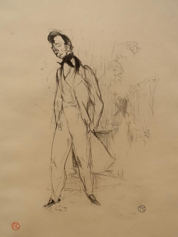 Henri De Toulouse Lautrec, Üzgün Genç Adam Adolphe, Figür, Henri de Toulouse-Lautrec, kanvas tablo, canvas print sales