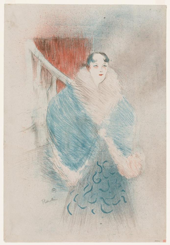 Henri De Toulouse Lautrec Elsa Dite Viyanalı, Figür, Henri de Toulouse-Lautrec, kanvas tablo, canvas print sales