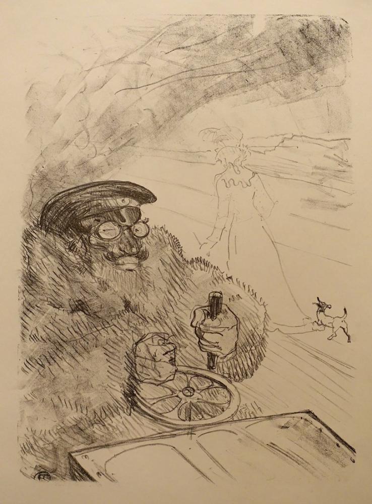 Henri De Toulouse Lautrec Motorist, Figür, Henri de Toulouse-Lautrec, kanvas tablo, canvas print sales