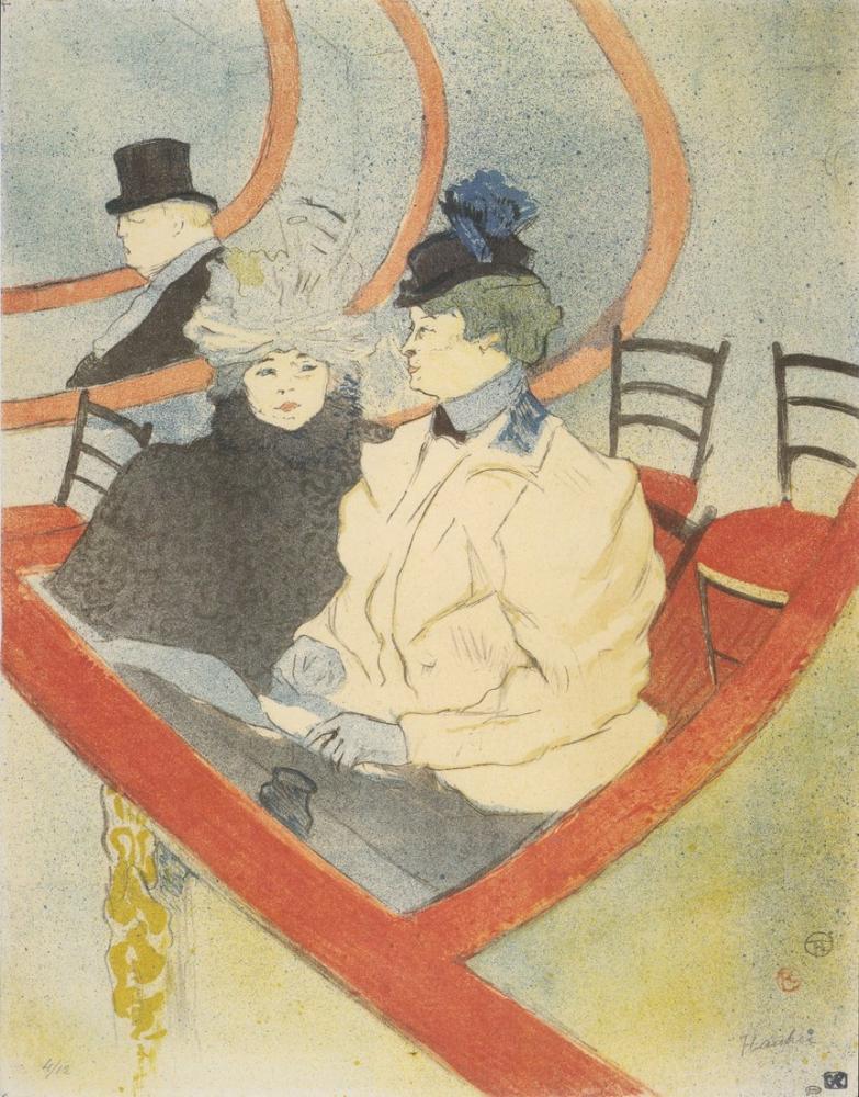 Henri De Toulouse Lautrec Büyük Loca, Kanvas Tablo, Henri de Toulouse-Lautrec, kanvas tablo, canvas print sales