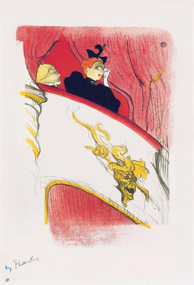Henri De Toulouse Lautrec Altın Mascaronlu Loca, Kanvas Tablo, Henri de Toulouse-Lautrec, kanvas tablo, canvas print sales