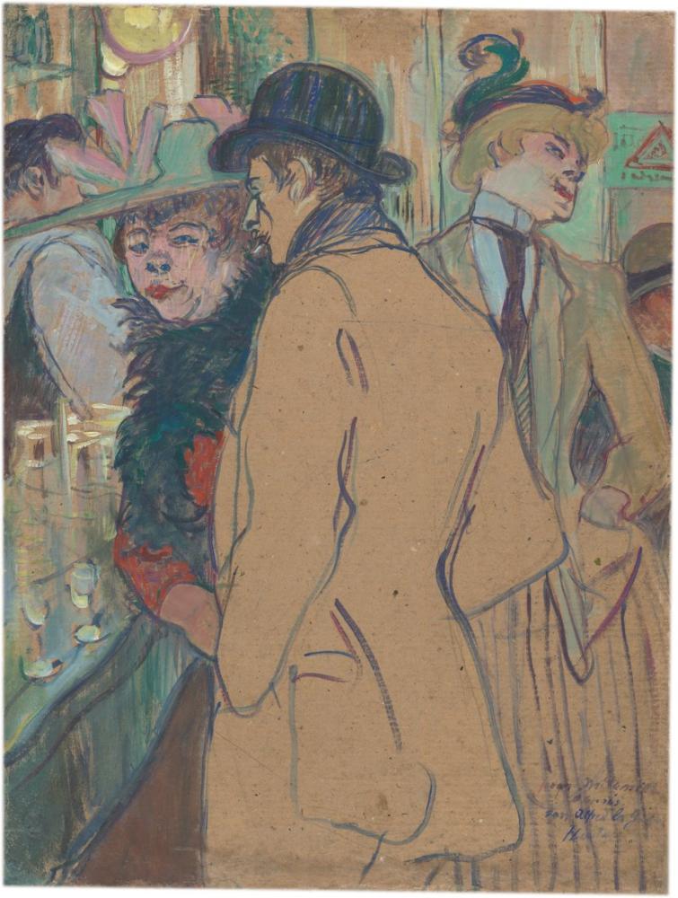 Henri De Toulouse Lautrec Alfred La Guigne, Kanvas Tablo, Henri de Toulouse-Lautrec, kanvas tablo, canvas print sales