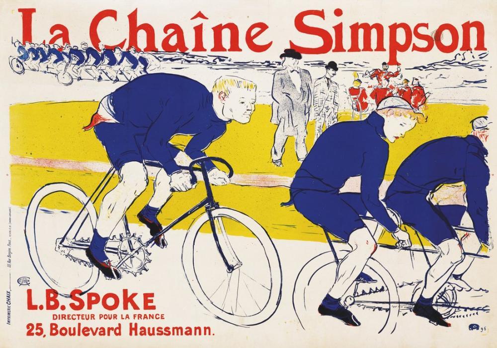 Henri De Toulouse Lautrec La Chaıne Simpson, Canvas, Henri de Toulouse-Lautrec, kanvas tablo, canvas print sales