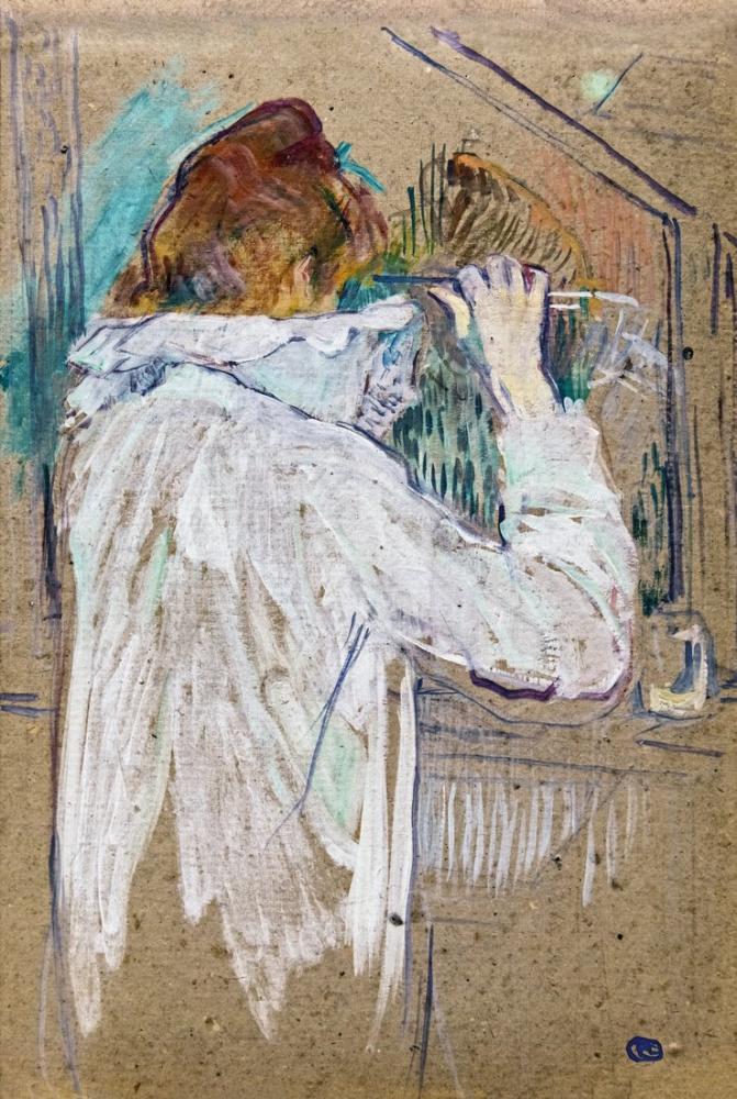 Henri De Toulouse Lautrec Augustins Kadın Kıvrık, Kanvas Tablo, Henri de Toulouse-Lautrec, kanvas tablo, canvas print sales
