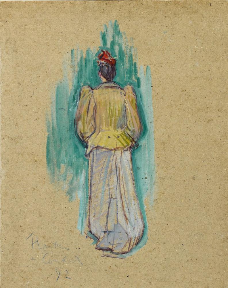 Henri De Toulouse Lautrec La Promeneuse, Figure, Henri de Toulouse-Lautrec, kanvas tablo, canvas print sales