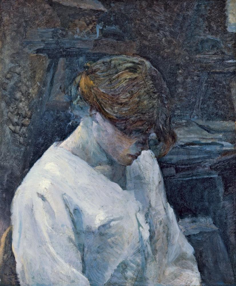 Henri De Toulouse Lautrec La Rousse Avec Chemisier Blanc, Canvas, Henri de Toulouse-Lautrec, kanvas tablo, canvas print sales