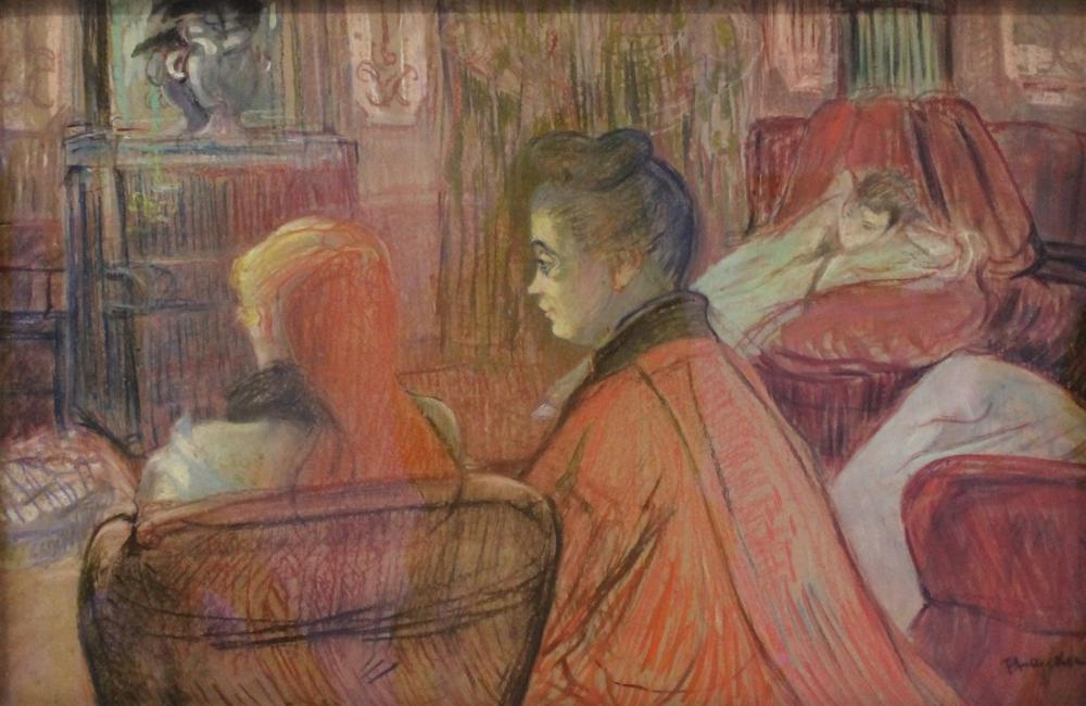 Henri De Toulouse Lautrec Au Salon De, Canvas, Henri de Toulouse-Lautrec, kanvas tablo, canvas print sales