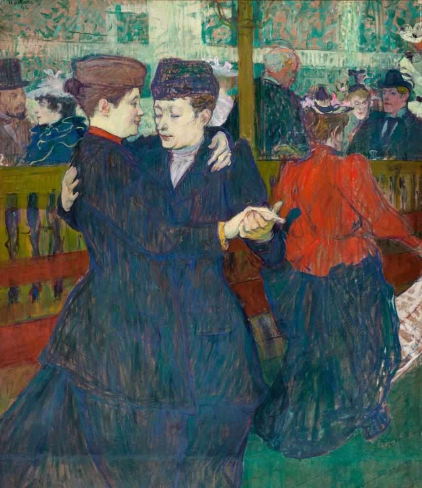 Henri De Toulouse Lautrec Moulin Rouge İki Kadının Vals Yapması, Kanvas Tablo, Henri de Toulouse-Lautrec, kanvas tablo, canvas print sales
