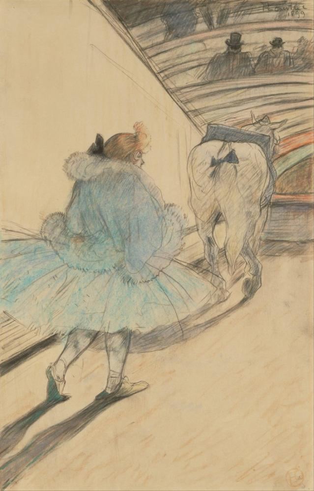 Henri De Toulouse Lautrec At The Circus Entering The Ring, Canvas, Henri de Toulouse-Lautrec, kanvas tablo, canvas print sales