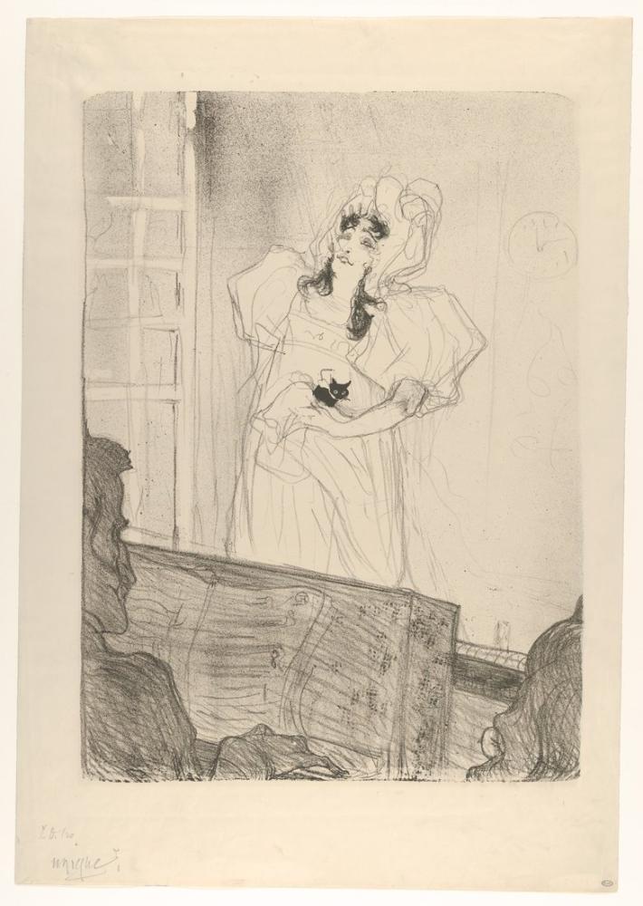 Henri De Toulouse Lautrec Bayan May Belfort Orta Tabak, Figür, Henri de Toulouse-Lautrec, kanvas tablo, canvas print sales