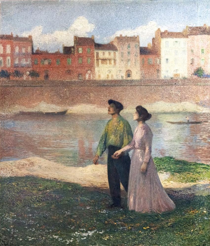 Henri Martin The Lovers Oil Paintings, Canvas, Henri Martin, kanvas tablo, canvas print sales