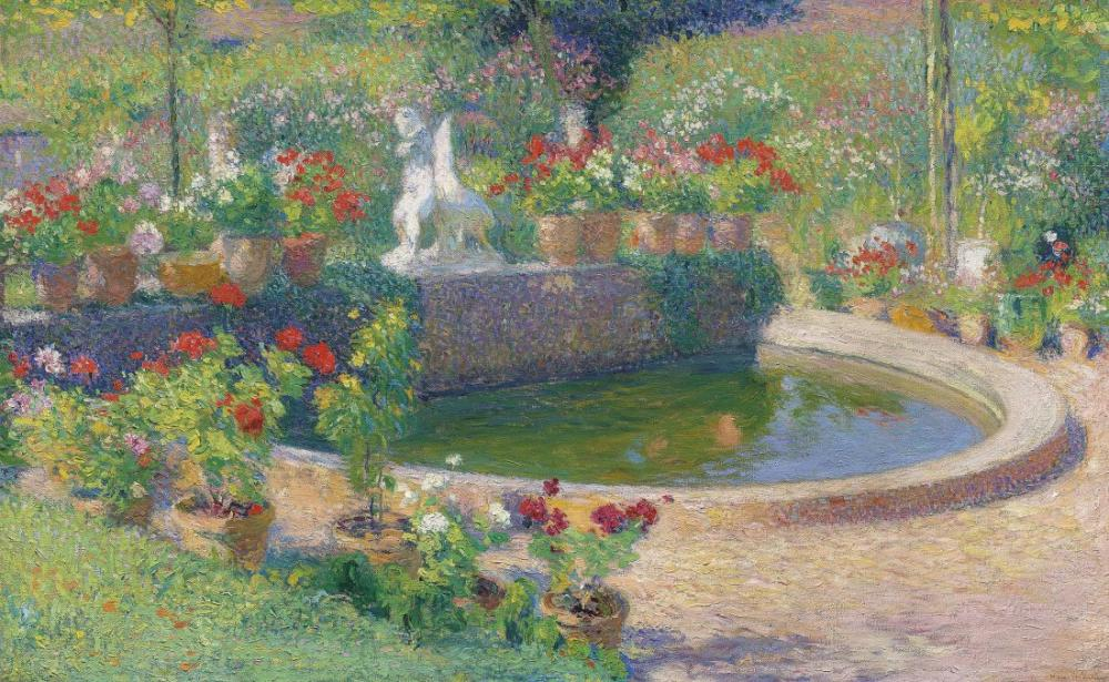 Henri Martin Fountain in Marquayrol, Canvas, Henri Martin, kanvas tablo, canvas print sales