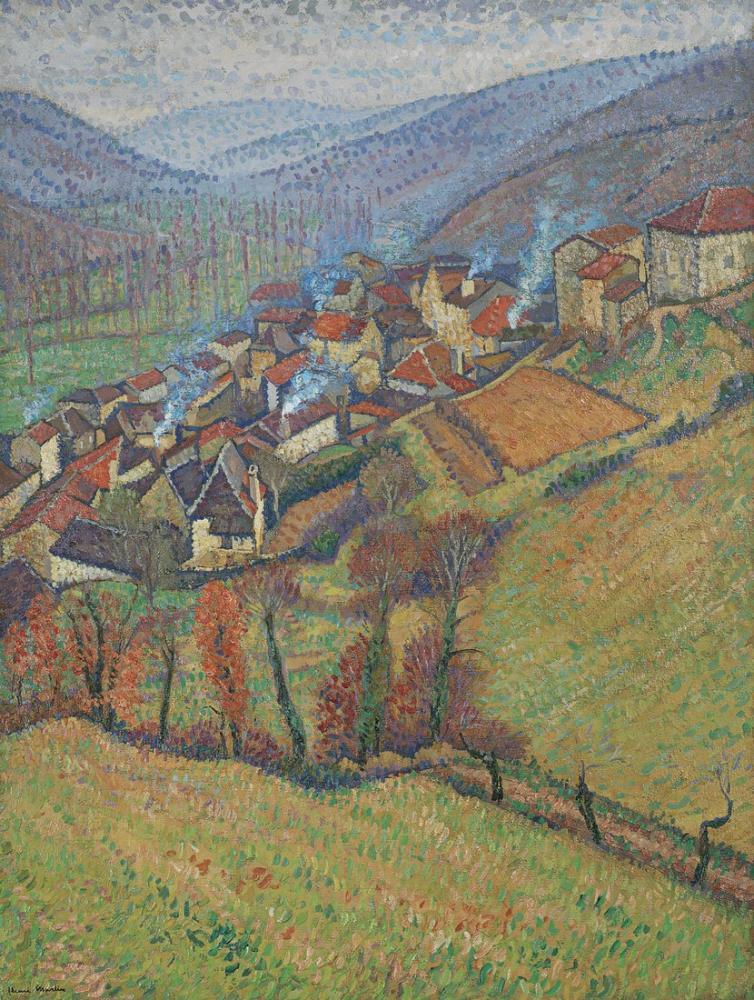 Henri Martin Yüksek Görülen Yeşilin Bastiği, Kanvas Tablo, Henri Martin, kanvas tablo, canvas print sales