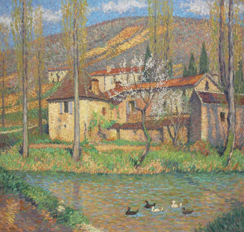 Henri Martin Yeşilin Evi, Kanvas Tablo, Henri Martin, kanvas tablo, canvas print sales