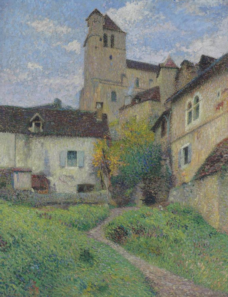 Henri Martin Saint Cirq Lapopie Kilisesi, Kanvas Tablo, Henri Martin, kanvas tablo, canvas print sales