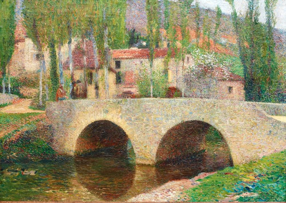 Henri Martin The Labastide Du Vert Bridge, Canvas, Henri Martin, kanvas tablo, canvas print sales