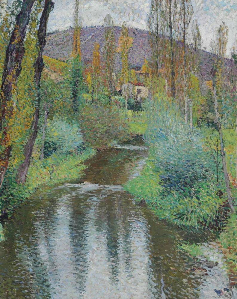 Henri Martin Le Vert Et Les Premieres Maisons De Labastide, Canvas, Henri Martin, kanvas tablo, canvas print sales