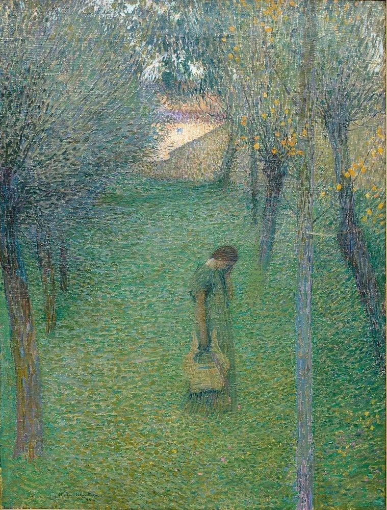 Henri Martin Bahçede Dalgın, Kanvas Tablo, Henri Martin, kanvas tablo, canvas print sales