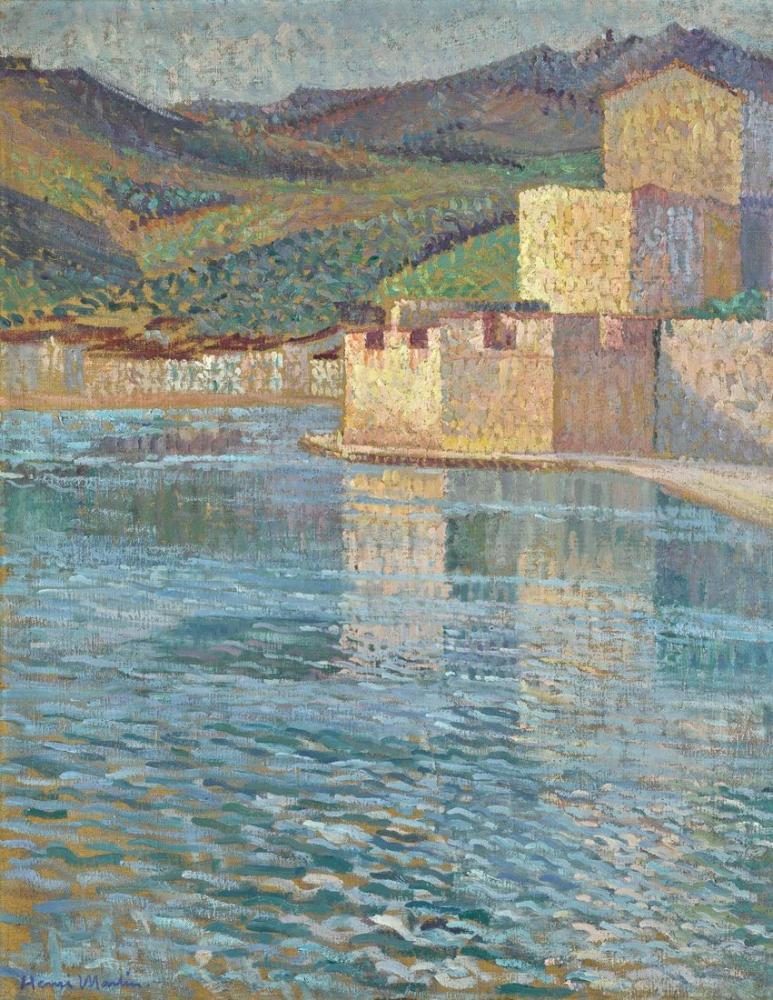 Henri Martin Ramparts At Collioure, Canvas, Henri Martin, kanvas tablo, canvas print sales