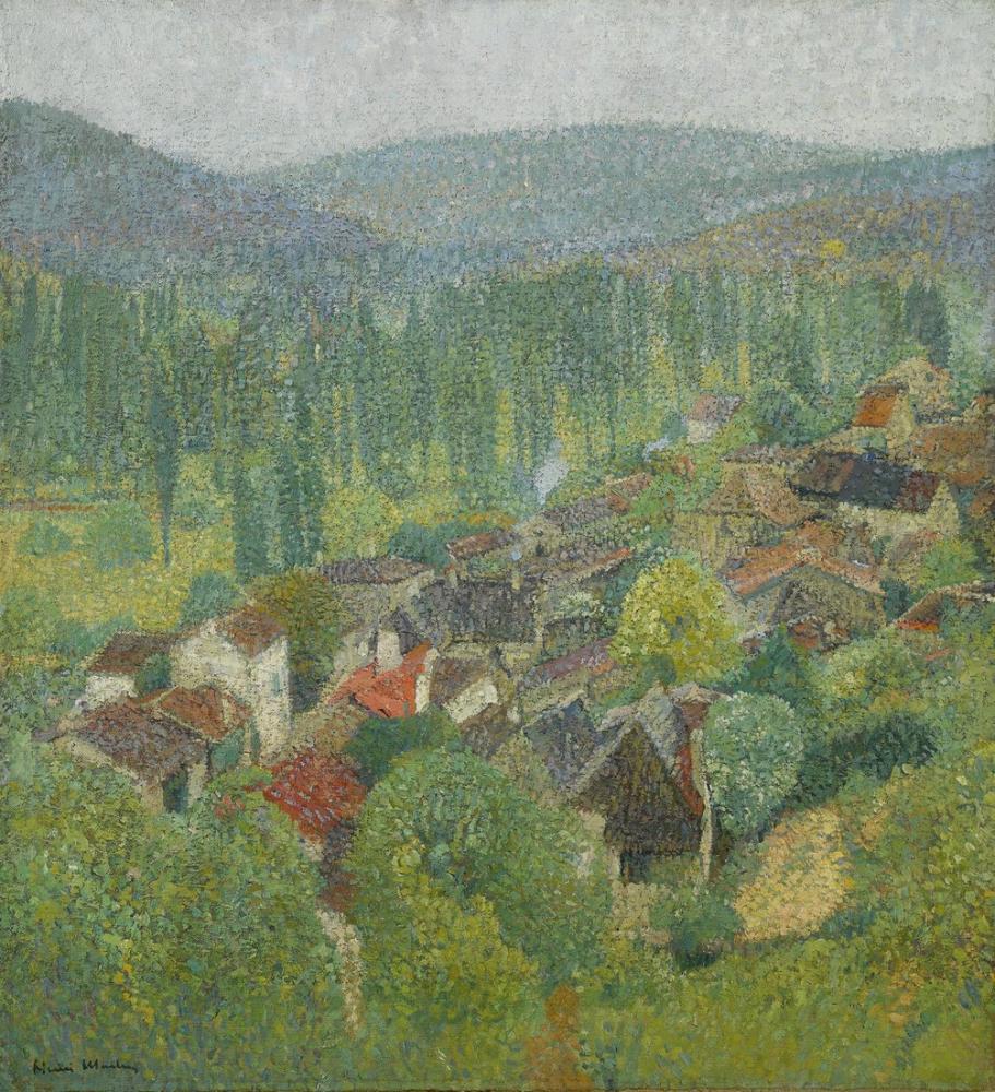 Henri Martin The Cypresses At Cagnes, Canvas, Henri Martin, kanvas tablo, canvas print sales