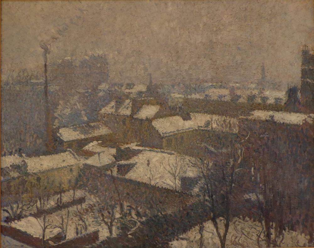 Henri Martin Paris Çatıları Kar Altında, Kanvas Tablo, Henri Martin, kanvas tablo, canvas print sales