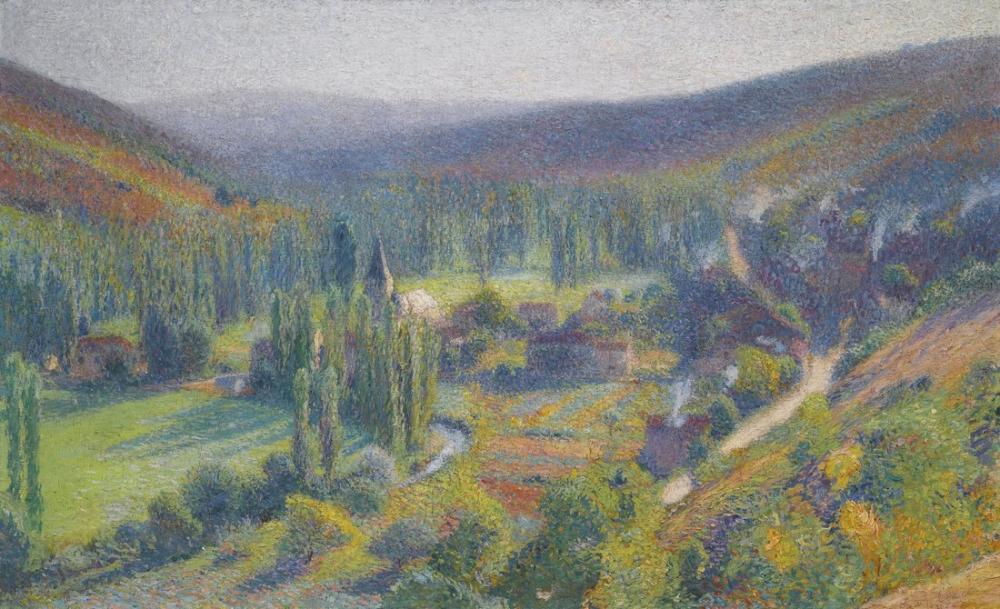 Henri Martin Vue De La Bas, Canvas, Henri Martin, kanvas tablo, canvas print sales