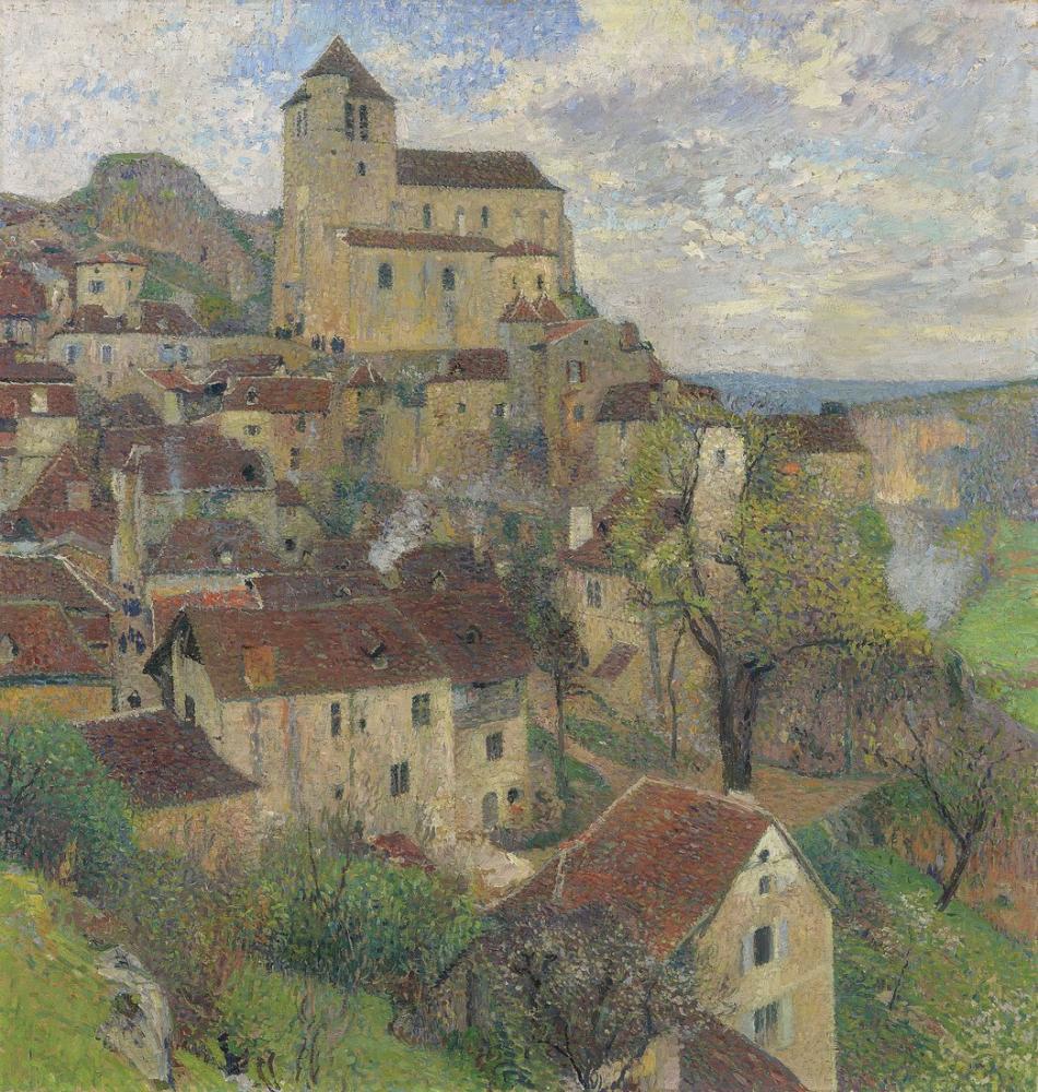 Henri Martin Vue Generale De St Cirq Lapopie, Canvas, Henri Martin, kanvas tablo, canvas print sales