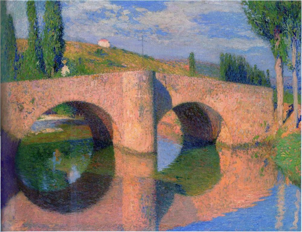 Henri Martin Bridge At Labastide Du Vert, Canvas, Henri Martin, kanvas tablo, canvas print sales
