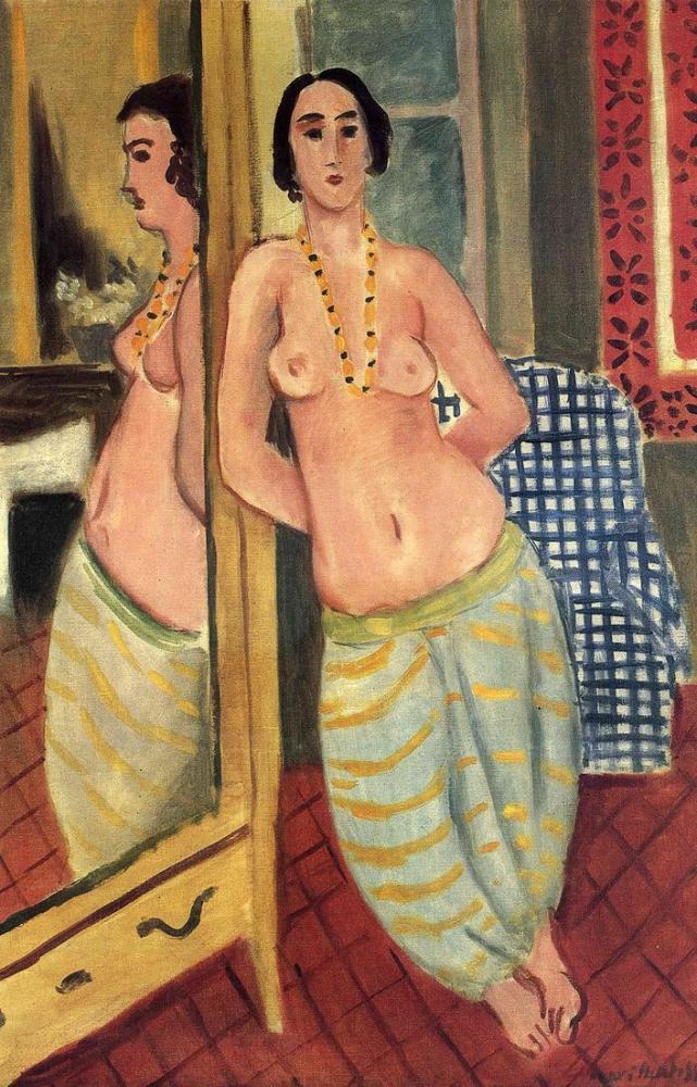 Henri Matisse Bir Aynaya Yansıyan Ayakta Cariye, Kanvas Tablo, Henri Matisse, kanvas tablo, canvas print sales
