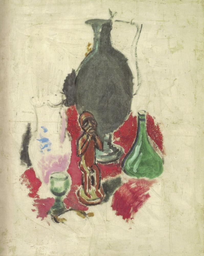 Henri Matisse Afrika Heykelciği ile Natürmort, Kanvas Tablo, Henri Matisse, kanvas tablo, canvas print sales