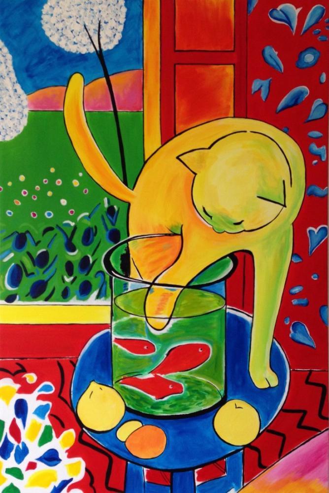Henri Matisse Kirmizi Balik Ile Kedi Resmi Henri Ma