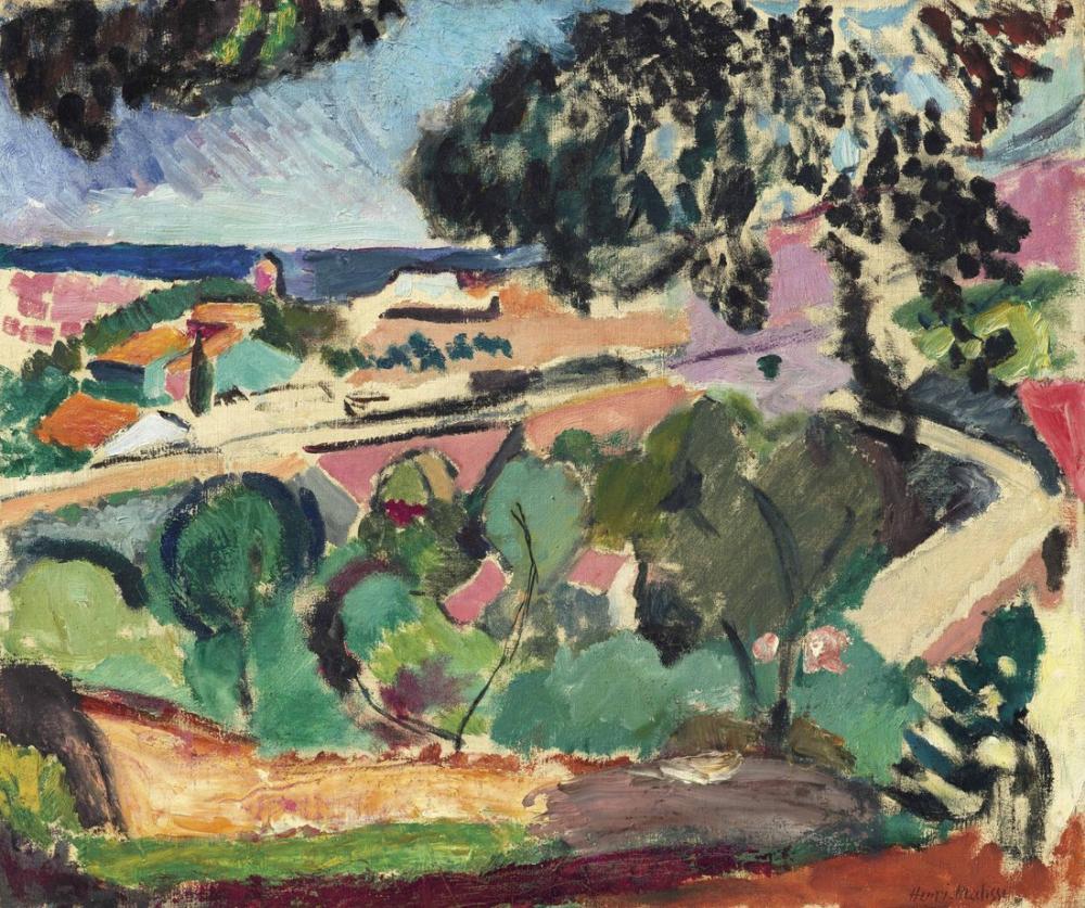 Henri Matisse Collioure Manzarası, Kanvas Tablo, Henri Matisse, kanvas tablo, canvas print sales