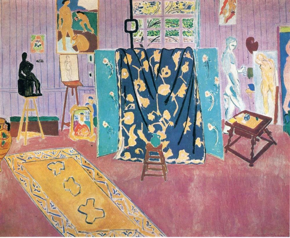 Henri Matisse, Pink Studio 1911, Canvas, Henri Matisse, kanvas tablo, canvas print sales