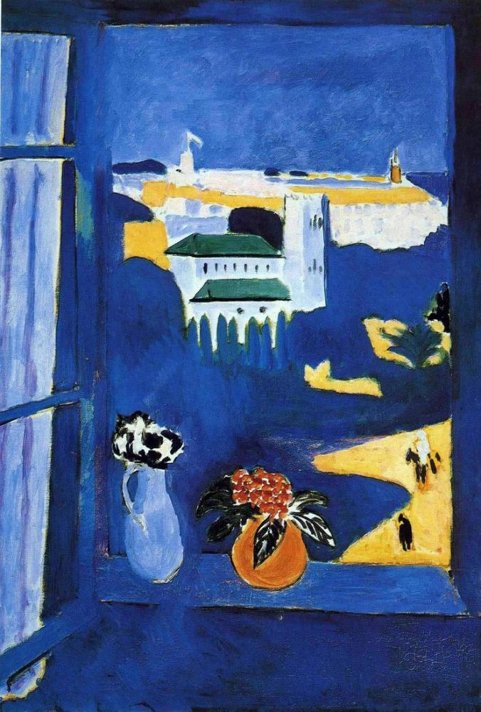 Henri Matisse Pencereden Görünüm Tangier, Kanvas Tablo, Henri Matisse