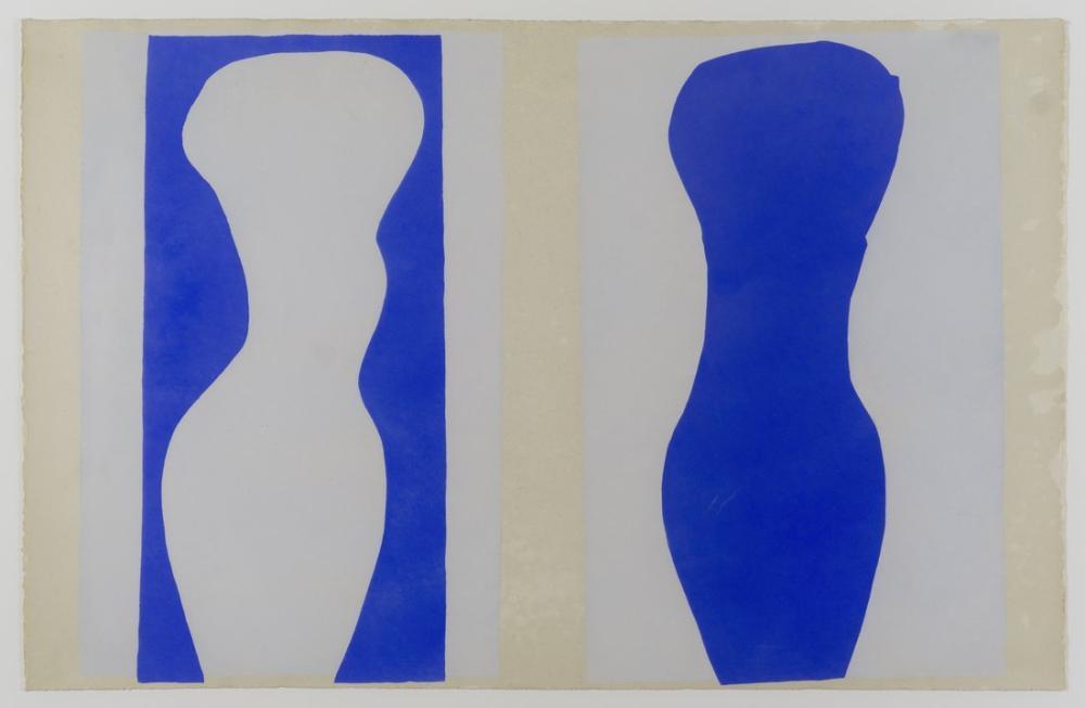 Henri Matisse Beyaz Gövde ve Mavi Gövde, Figür, Henri Matisse, kanvas tablo, canvas print sales
