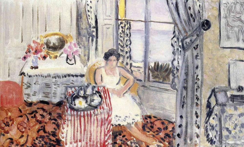 Henri Matisse Bir Pencerede Kadın, Kanvas Tablo, Henri Matisse, kanvas tablo, canvas print sales