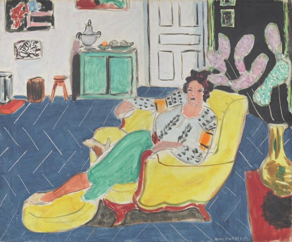 Henri Matisse Bir Koltukta Oturan Kadın, Figür, Henri Matisse, kanvas tablo, canvas print sales