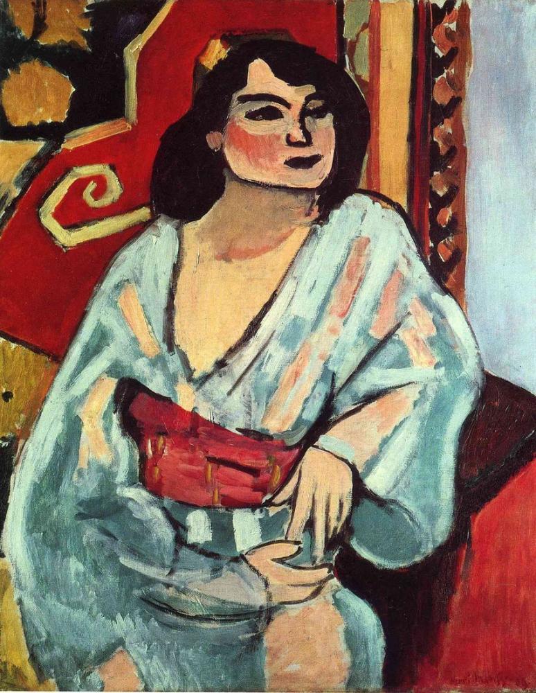 Henri Matisse Cezayirli Kadın 1909, Kanvas Tablo, Henri Matisse, kanvas tablo, canvas print sales