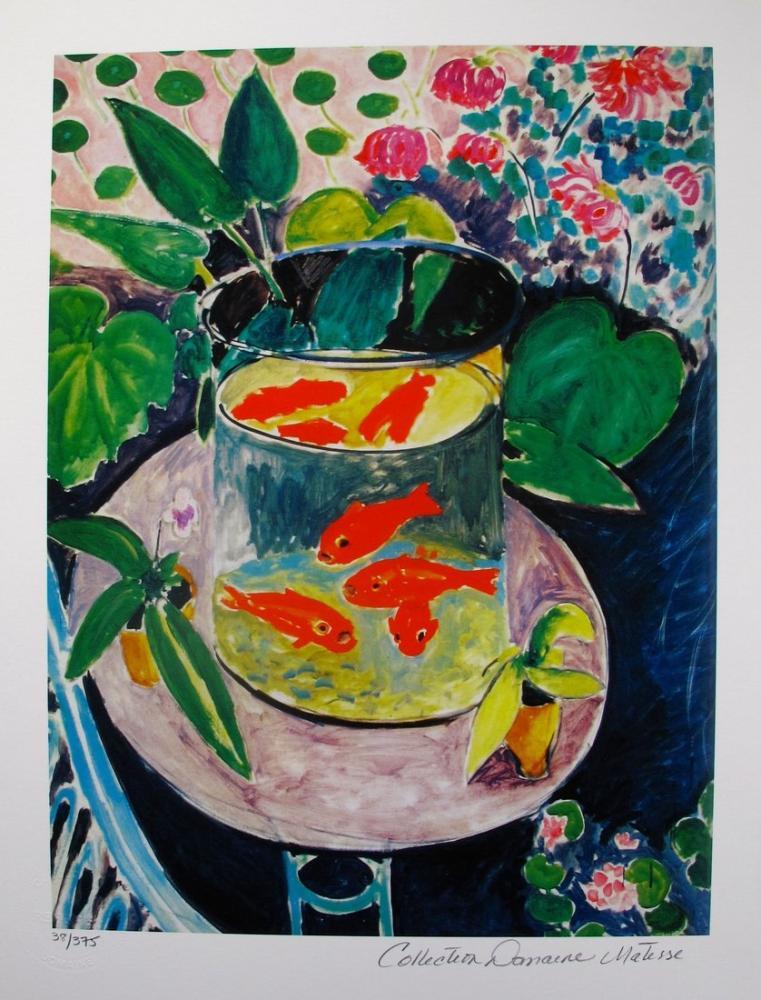 Henri Matisse Akvaryum Balığı, Kanvas Tablo, Henri Matisse, kanvas tablo, canvas print sales
