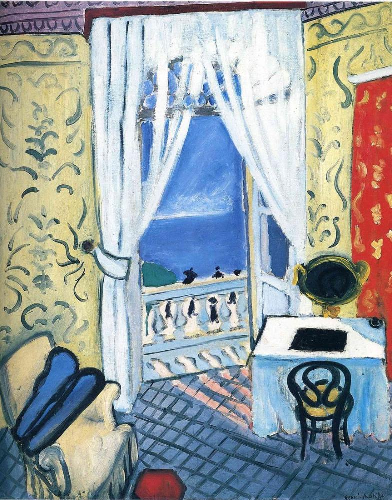 Henri Matisse Interior With A Violin Case, Canvas, Henri Matisse, kanvas tablo, canvas print sales
