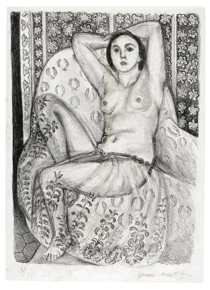 Henri Matisse Cariye Çizimi, Kanvas Tablo, Henri Matisse, kanvas tablo, canvas print sales